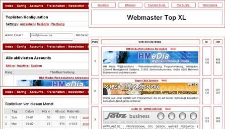Topsites Script Top XL - gratis Topliste